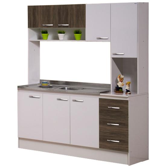 Cozinha Compacta Decibal Luana 7 Portas 3 Gavetas  Colombo # Cozinha Compacta Civardi