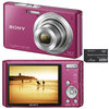 C�mera Digital Sony Cyber-Shot DSC-W610-P 14.1MP Panor�mica 360� + Cart�o de 4GB