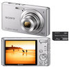 C�mera Digital Sony Cyber-Shot DSC-W610-S 14.1MP Panor�mica 360� + Cart�o de 4GB