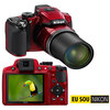C�mera Digital Nikon Coolpix P510 16.1 MP V�deo Full HD + GPS + Cart�o de 8 GB