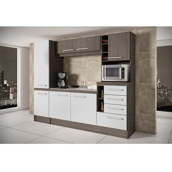 Cozinha Compacta Decibal Lara, 7 Portas  Colombo # Cozinha Compacta Civardi