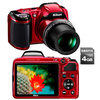 C�mera Digital Nikon Coolpix L810 16.1 MP Fotos 3D + V�deos em HD + Cart�o 4GB