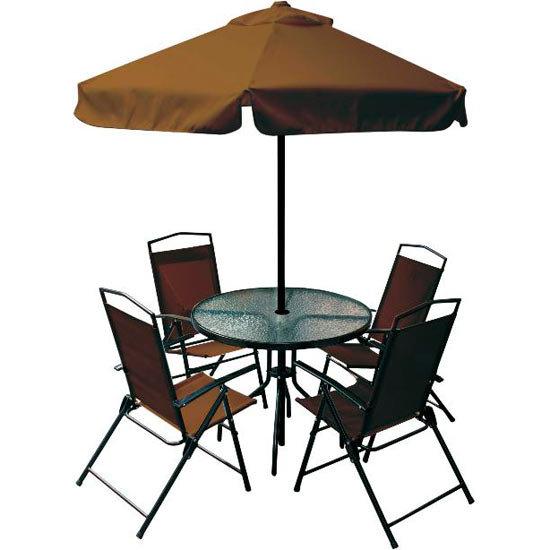 mesa jardim guarda sol:Conjunto Mesa e Cadeira Miami Bel Fix com Guarda – Sol – Colombo