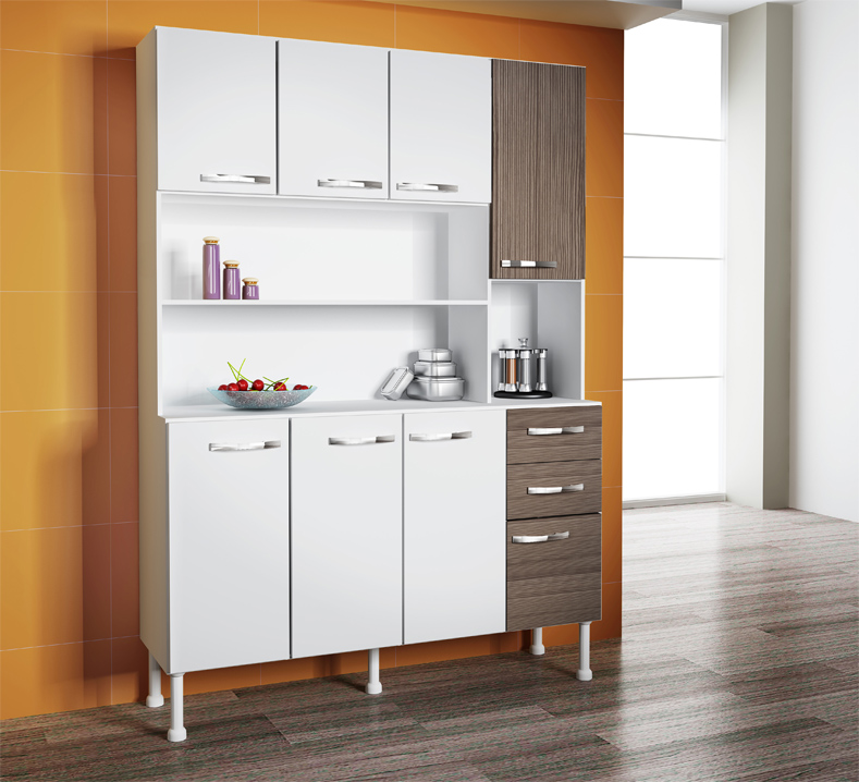 Cozinha Compacta Decibal 8 Portas 2 Gavetas LC65  Colombo # Cozinha Compacta Civardi