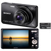 C�mera Digital Sony Cyber-Shot DSC-W690B 16.1MP Panor�mica + Menu Divers�o + 8GB