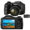 C�mera Digital Sony Cyber-Shot DSC-H100/B 16.1MP Panor�mica, Menu Divers�o, 8GB