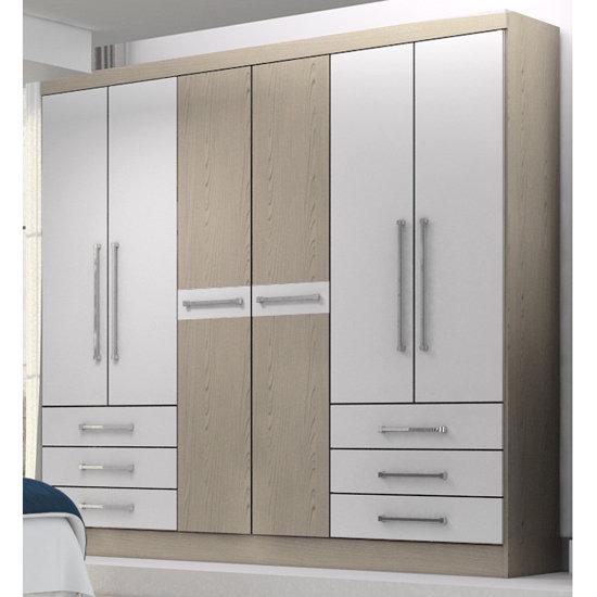 guarda roupa roupeiro demobile 6 portas berlin colombo. Black Bedroom Furniture Sets. Home Design Ideas