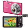 C�mera Digital Sony Cyber-Shot DSC-W710/P 16.1MP Panor�mica 360 + Cart�o de 4GB