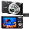 C�mera Digital Sony Cyber-Shot DSC-W730/B 16.1MP Panor�mica 360� + Cart�o de 8GB