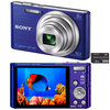 C�mera Digital Sony Cyber-Shot DSC-W730/L 16.1MP Panor�mica 360� + Cart�o de 8GB