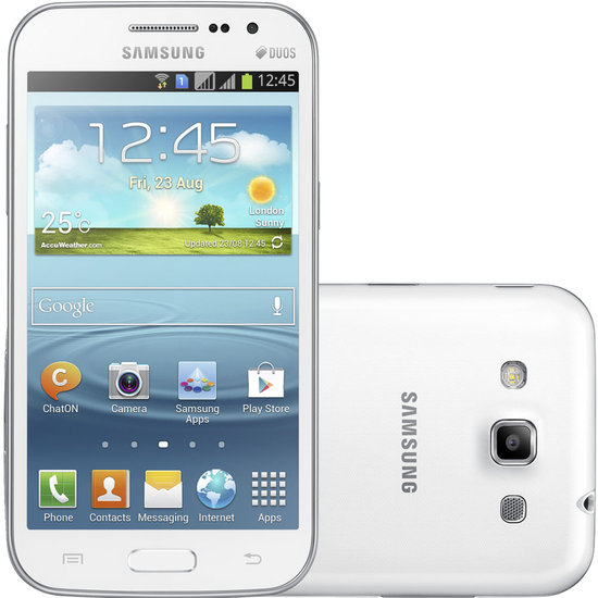 Smartphone Samsung Galaxy Win Duos Branco, 3G, Android 4.1 - I8552