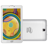 Tablet Qbex Intel, 3G, Android 4.4, 4GB, Wi-Fi, Bluetooth, Branco - M721S