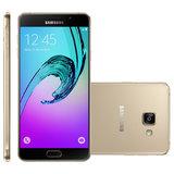 Smartphone Samsung Galaxy A7 Duos Dourado, 4G, 16GB, 13MP - A710M/DS