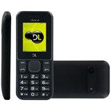 Celular DL YC 210 Preto, Dual Chip, Câmera com Flash, Rádio FM